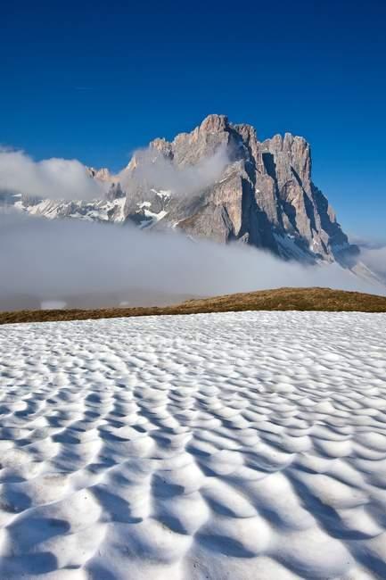 Vista do grupo de odle de Furcia, vale de Funes, parque natural de Puez, Dolomites, Trentino-Alto Adige, Italy, Europa — Fotografia de Stock