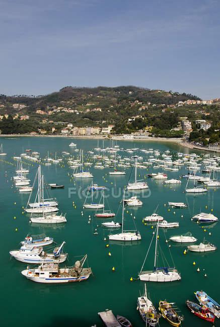 Tourist port, Lerici, Liguria, Italy, Europe, — Stock Photo