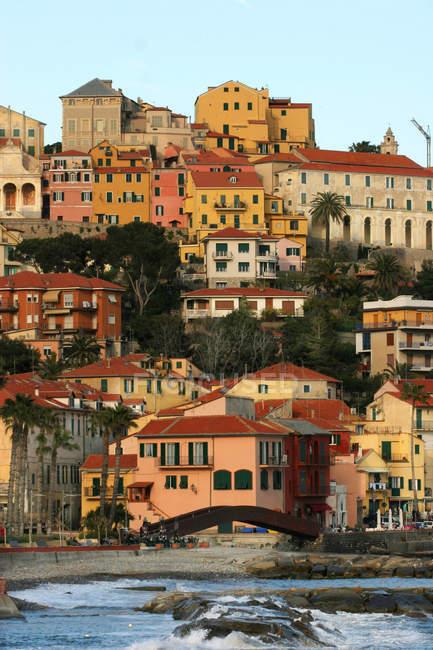 Porto Maurizio paesaggio urbano, Liguria, Italia, Europa — Foto stock