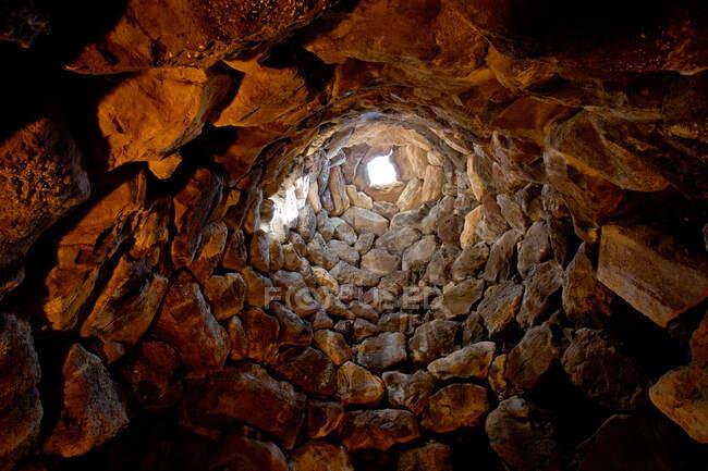 Su Nuraxi, sítio arqueológico, UNESCO, Patrimônios Mundiais, Aldeia de Barumini, Sardenha, Itália, Europa — Fotografia de Stock
