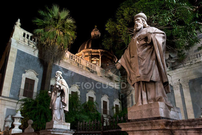 Place de la cathédrale, Catane, Sicile, Italie, Europe — Photo de stock
