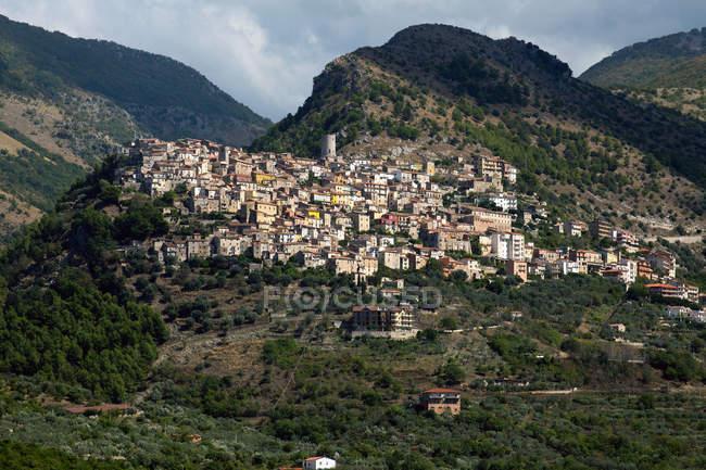 Castelcivita cityscape, Campania, Italy, Europe — Stock Photo