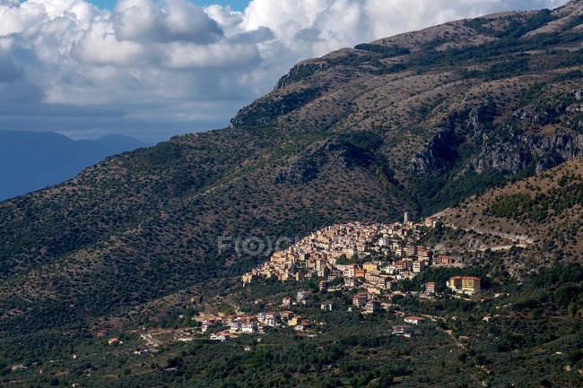 Кастельчивита городской пейзаж, Кампания, Италия, Европа — стоковое фото