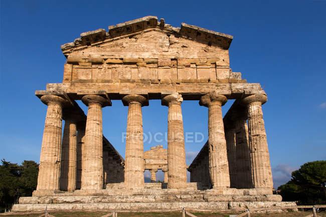 Paestum archeological site, Campania, Italy, Europe — стокове фото