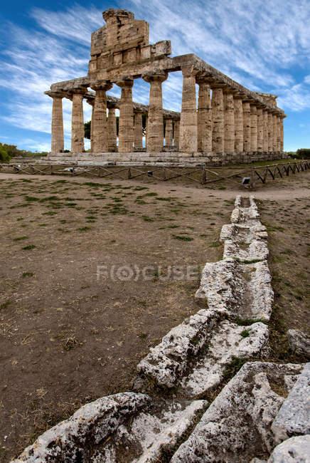 Археологический памятник Пестум, Кампания, Италия, Европа — стоковое фото