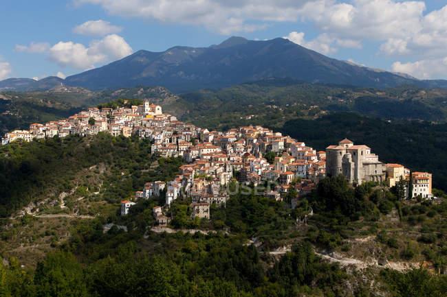 Stadtbild von Rivello, Kalabrien, Italien, Europa — Stockfoto