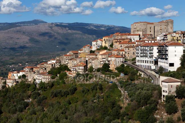 Роккадаспидский городской пейзаж, Кампания, Италия, Европа — стоковое фото