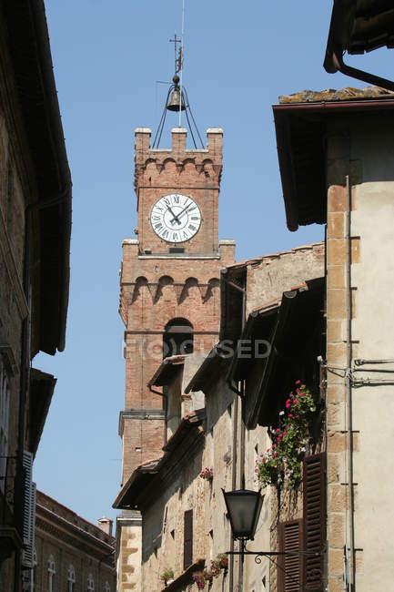 Палац Комкомале, П'єнца, ЮНЕСКО, Всесвітня спадщина ЮНЕСКО, Тоскана, Італія, Європа — стокове фото