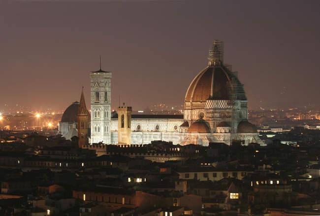 Cityscape with Santa Maria del Fiore cathedral, Florence, Tuscany, Italy — Stock Photo