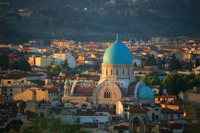 Синагога, Флоренция, Тоскана, Италия — стоковое фото