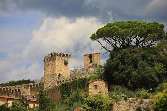 Fortrersse з Масса-Маріттіма, Гроссето, Тоскана, Італія — стокове фото