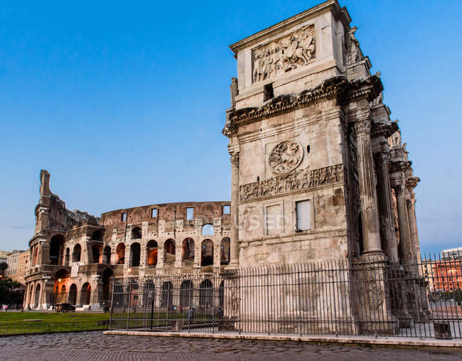 Imperial Forums, Colosseum, Arch of Costantine, Rome, Lazio, Italy, Europe — Stock Photo