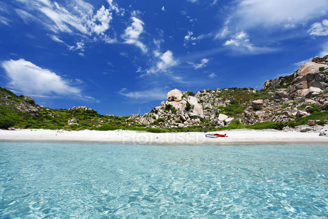 Cala Corsara, Isola di Spargi island, Arcipelago della Maddalena, La Maddalena, Sardinia, Italy, Europe — Stockfoto