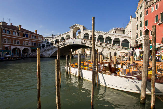 Rialto Bridge, Venice, Veneto, Italy, Europe — Stock Photo