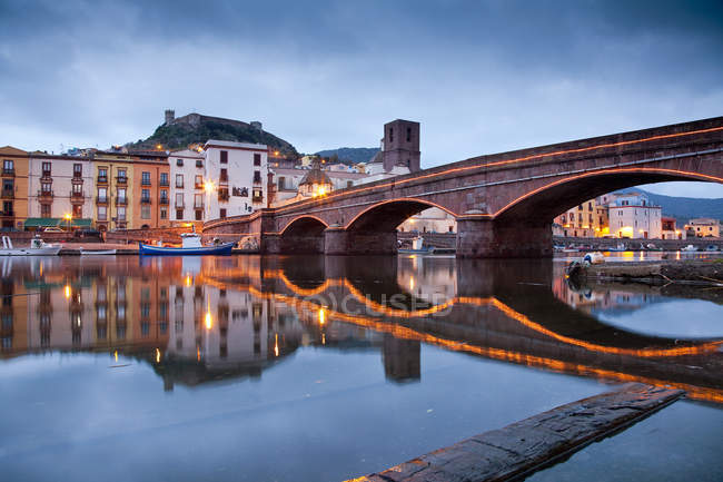 Temo river, Planargia, Bosa (OR), Фелиния, Италия, Европа — стоковое фото