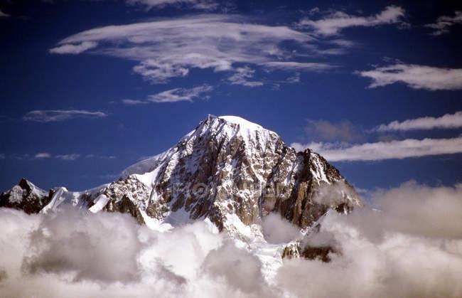 Monte bianco, blick aus dem thuile-tal, aostatal, italien — Stockfoto