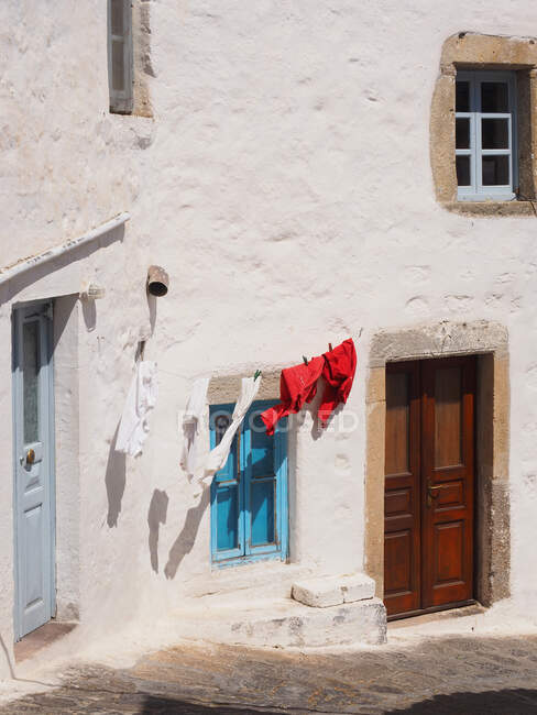 Chora village, Patmos island, Dodecanese, Twelve island, Greece, Europe — Stock Photo