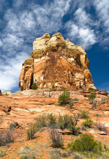 Sandstein-Monolith, wayne county, utah, vereinigte staaten von amerika, nordamerika — Stockfoto