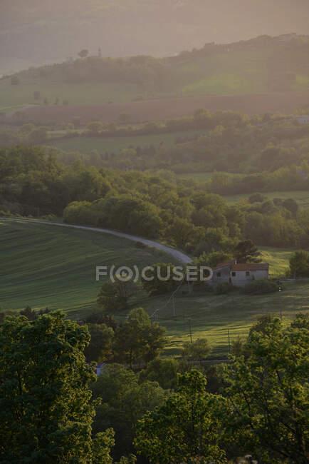 Landscape, Val Tiberina valley, Umbria, Itaky, Europe — Stock Photo