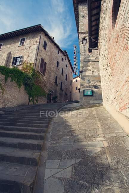 Вид на середньовічне місто, Губбіо, Умбрія, Італія, Європа — стокове фото