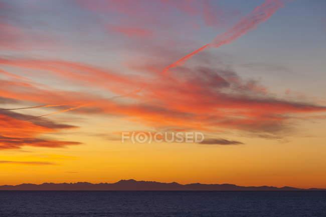 Coucher de soleil de Manarola, ligurie, Italie — Photo de stock