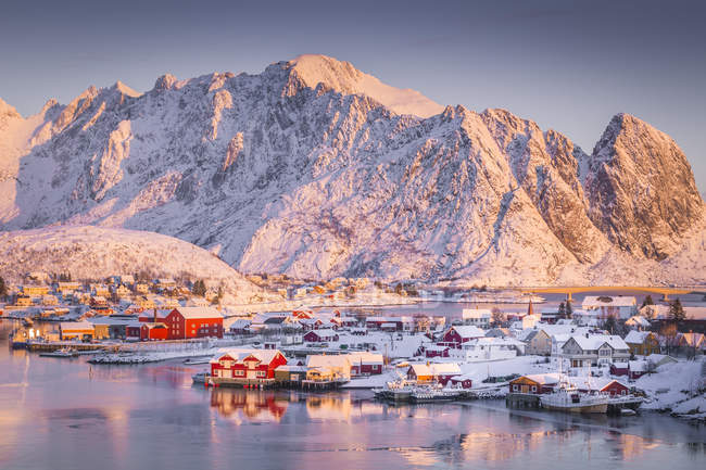 Reine, Iles Lofoten, Arctique, Norvège, Scandinavie, Europe — Photo de stock