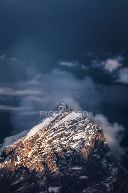 Monte Antelao da Cortina d'Ampezzo, Veneto, Italia — Foto stock
