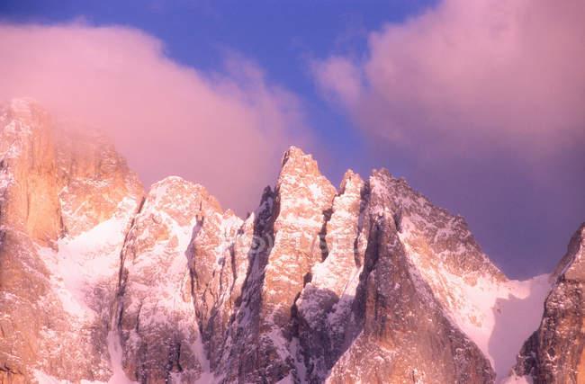 Pale di San Martino from Rolle Pass, Paneveggio Pale di San Martino Park, Trento Province, Trentino, Italy — стокове фото