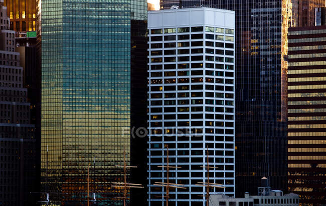 Foreshortening, Nueva York City, Nueva York, Estados Unidos - foto de stock