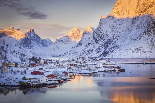 Reine, Ilhas Lofoten, Ártico, Noruega, Escandinávia, Europa — Fotografia de Stock