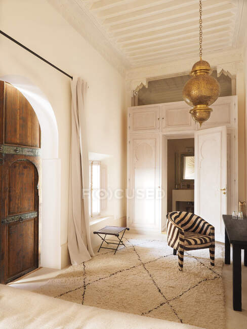 Interior of refurbished private riad, Medina, Marrakech, Morocco, North Africa — Stock Photo