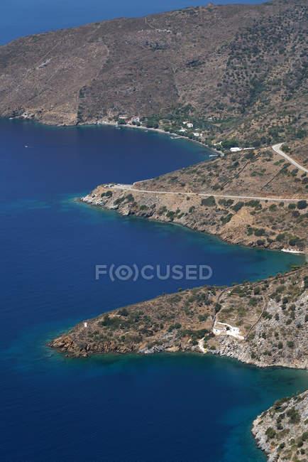 Küste in der Nähe von kampi chrisomilias, fourni island, dodecanese, griechenland, europa — Stockfoto