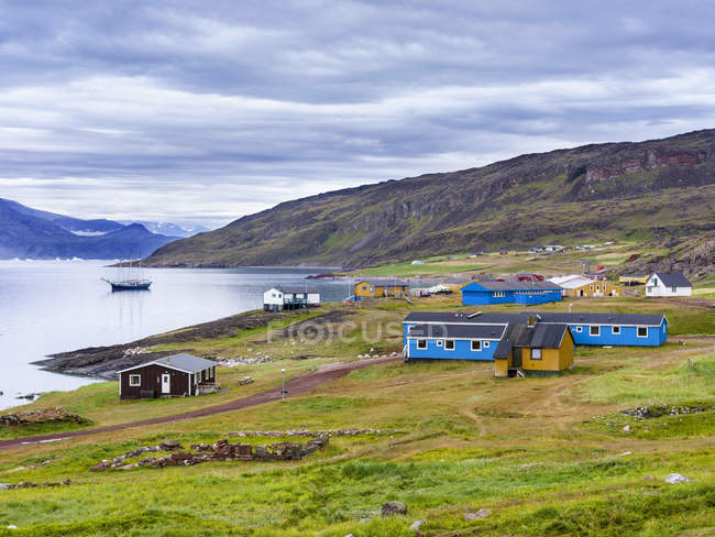 The settlement Qassiarsuk, probably the old Brattahlid,  the home of Erik the Red.    America, North America, Greenland, Denmark — Stock Photo