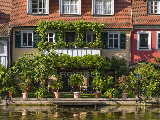 Old fishermen s houses on the river Regnitz, a quarter called Little Venice (Klein Venedig). Bamberg in Franconia, a part of Bavaria. The Old Town is listed as UNESCO World Heritage