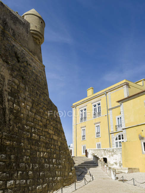 City of Cascais, a famous spa and resort at the coast of the atlantic ocean, north of Lisbon. The citadel of Cascais, now part museum part hotel.  Europe, Southern Europe, Portugal — Stock Photo