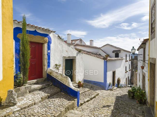 Історичне невелике містечко Обідос з середньовічним старим містом, туристичною визначною пам'яткою на північ від Lisboa Europe, Південна Європа, Португалія — стокове фото