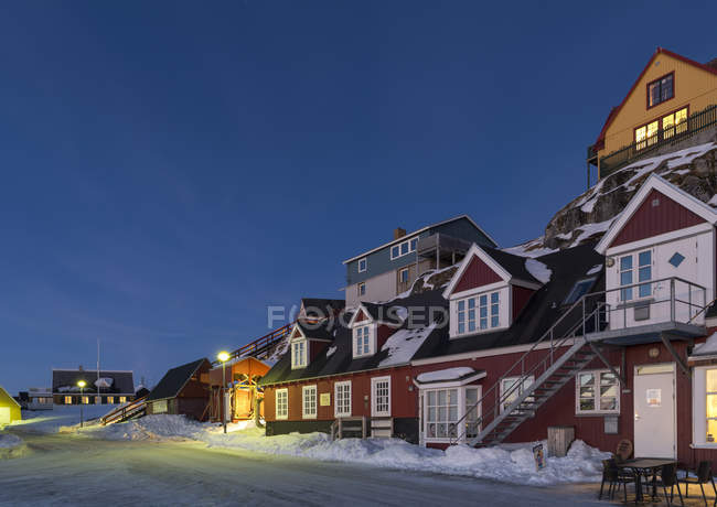 The old town, Nuuk, the capital of Greenland. America, North America, Greenland — Stock Photo
