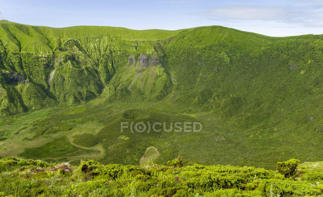 The Caldera of Faial at Cabeco Gordo.  Faial Island, an island in the Azores (Ilhas dos Acores) in the Atlantic ocean. The Azores are an autonomous region of Portugal. — Stock Photo