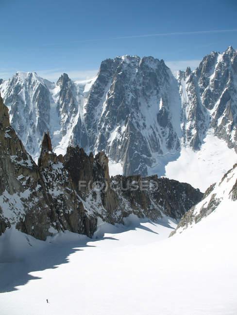 Glacier du Milieu and Les Droites, Argall, Rhone-Alpes, Haute Savoie, France, Europe — стокове фото