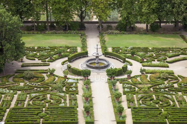 Giardino del Belvedere, Villa La Petraia è una delle ville medicee, XIV secolo, Firenze, Toscana, Italia, Europa — Foto stock