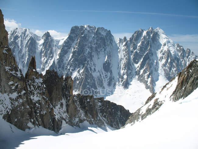Glacier du milieu, les courtes, les droites, aiguille verte, argentire, rhone-alpes, haute savoie, frankreich, europa — Stockfoto
