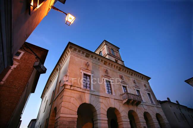 Palazzo Ducale al tramonto, Sabbioneta, Lombardia, Italia, Europa — Foto stock