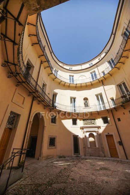 Piazza Vittorio Emanuele II square, Palazzo Dosi Delfini palace, Old Town, Rieti, Lazio, Italy, Europe — Stock Photo