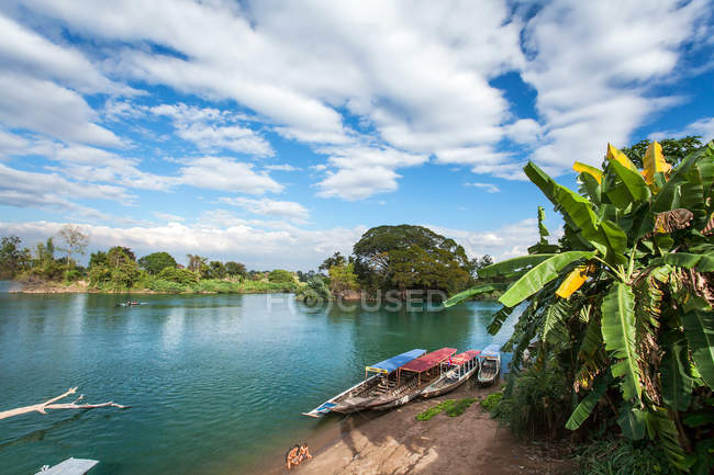 Mekong River in Don Det island, Paks, Laos, Asia — Stock Photo