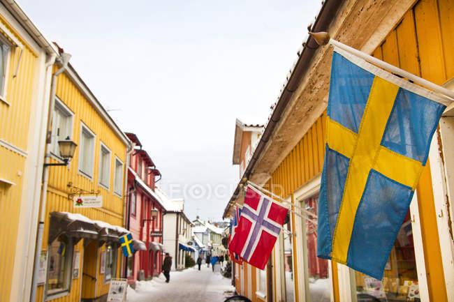 Strada di Sigtuna, Svezia, Europa — Foto stock
