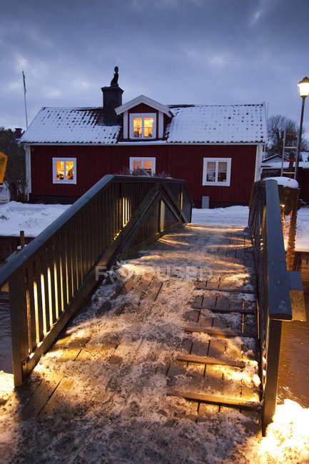 Trosa, Svezia, Europa alla sera — Foto stock
