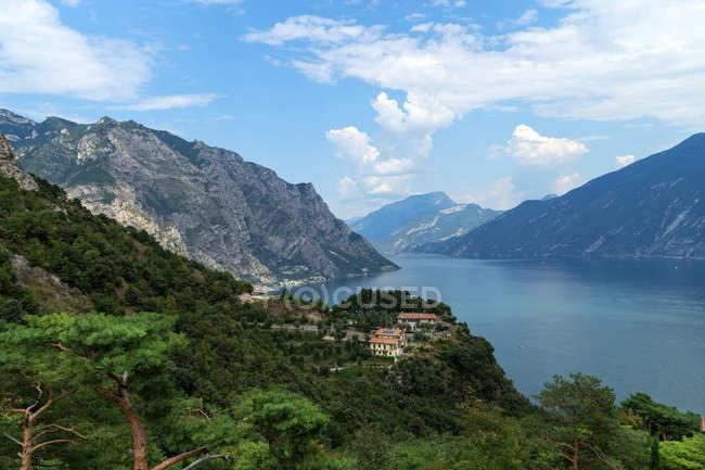 View of Lake Garda from Bassanega, Tremosine, Lombardia, Italy, Europe — Stock Photo