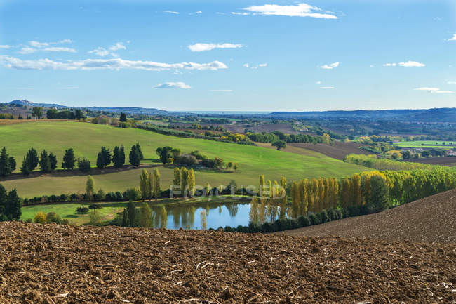 Paesaggio rurale, azienda agricola, Macerata, Marche, Italia, Europa — Foto stock