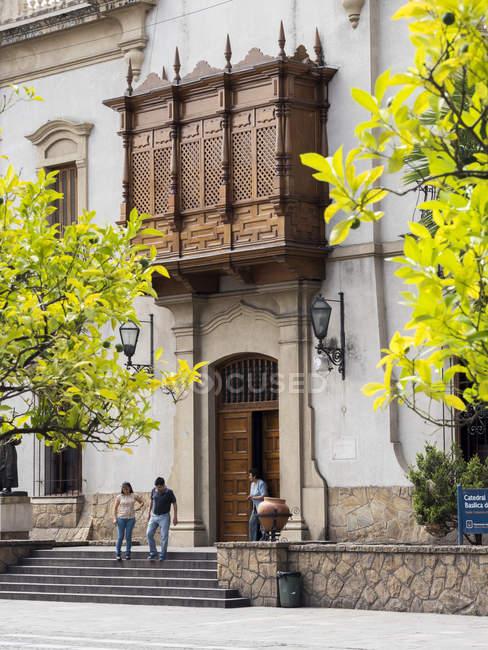 Palácio do arcebispo. Cidade Salta, no norte da Argentina, localizada no sopé dos Andes.