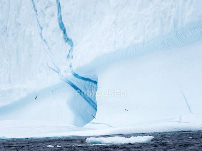 Icebergs no sistema fiorde Uummannaq no norte da Groenlândia Ocidental. América do Norte, Gronelândia, Dinamarca — Fotografia de Stock